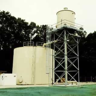 aerator in water treatment plant
